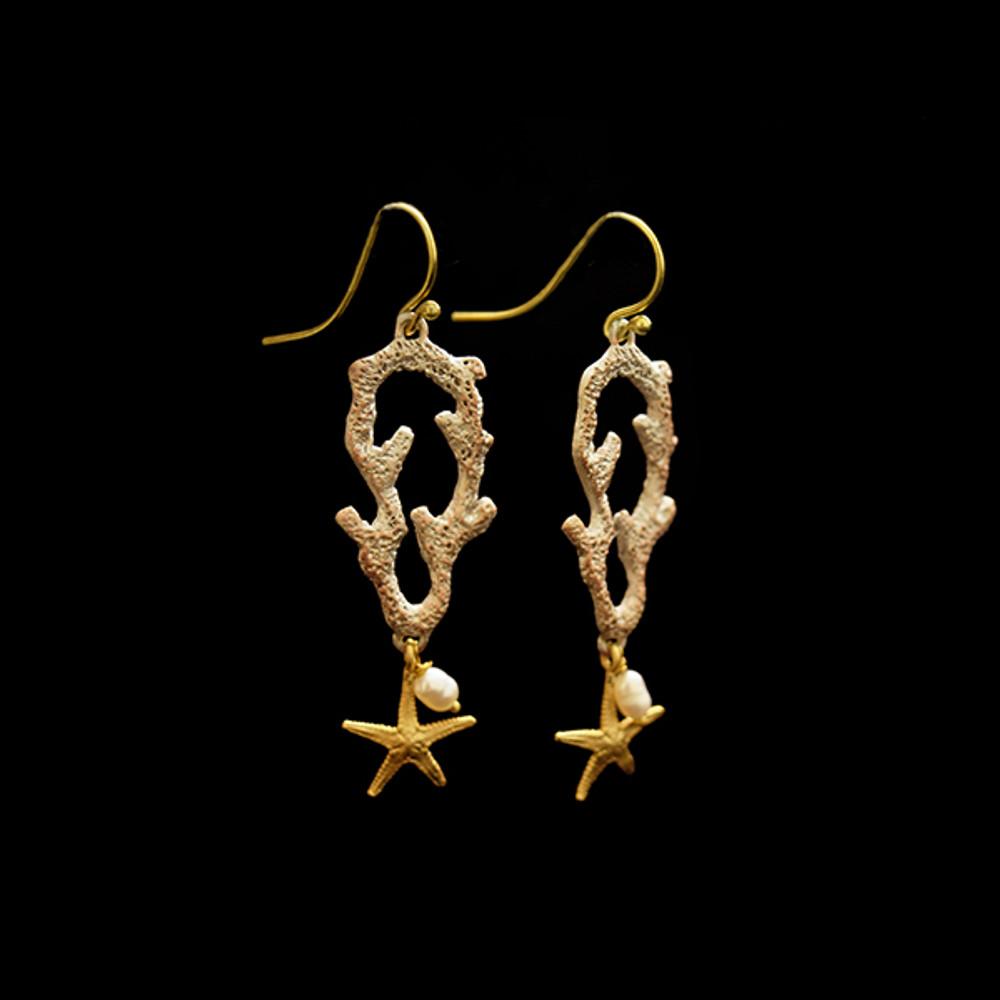 Coral Reef Star Post Earrings | Michael Michaud | 3548BZ
