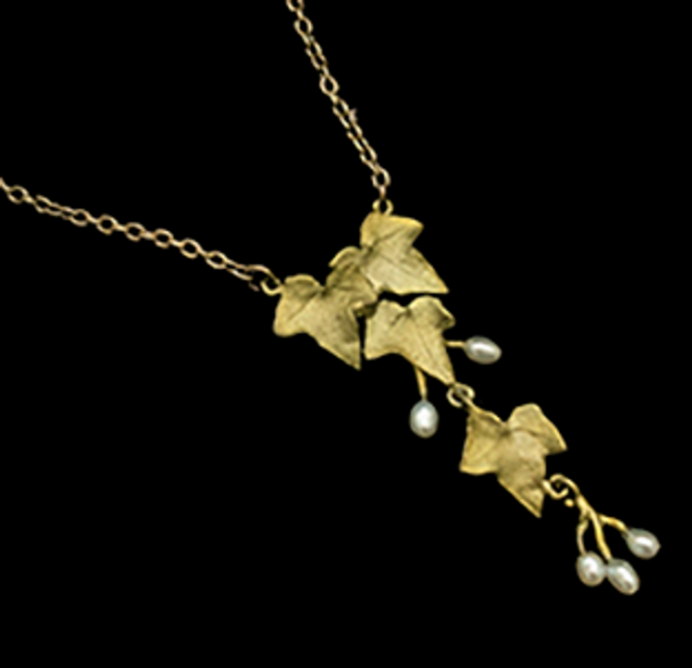 "Ivy 16"" Leaf Drop Pendant Necklace | Nature Jewelry | Michael Michaud | 9296BZ"