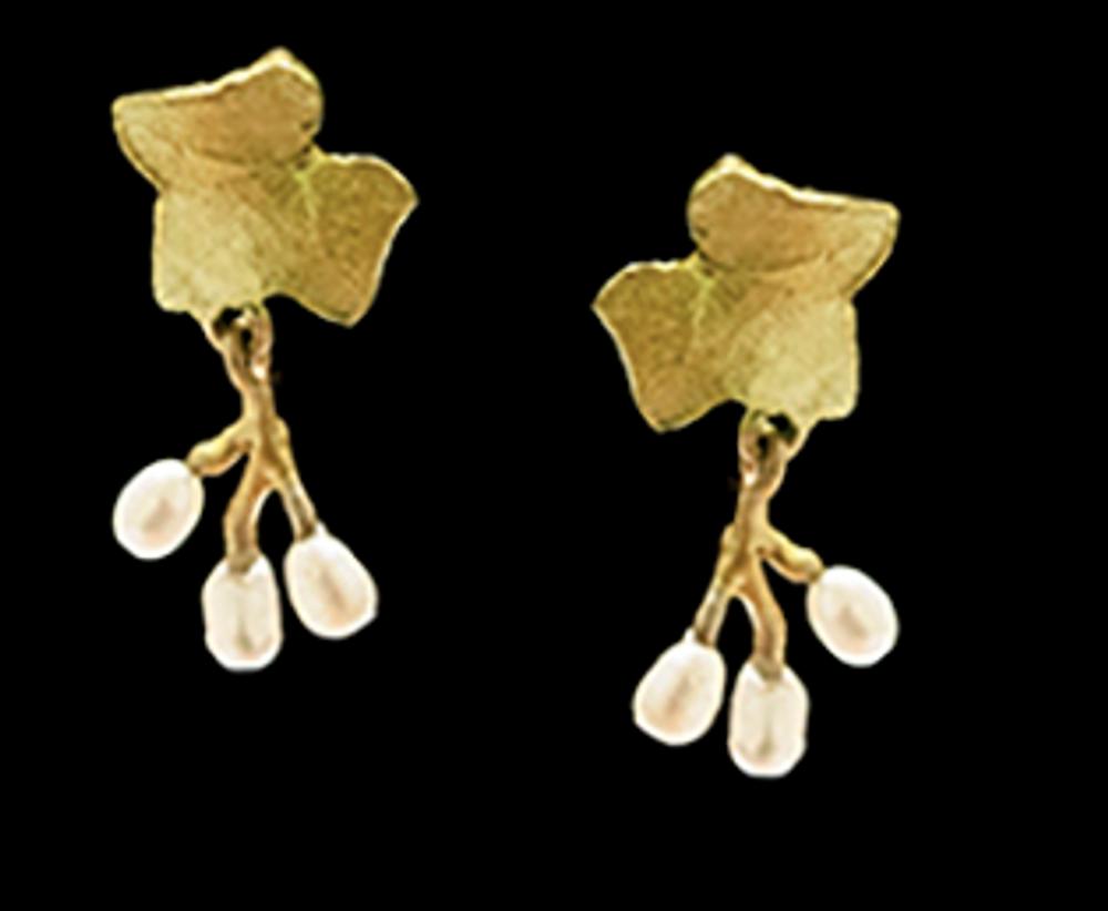 Ivy Post Earrings | Nature Jewelry | Michael Michaud | 3549BZ