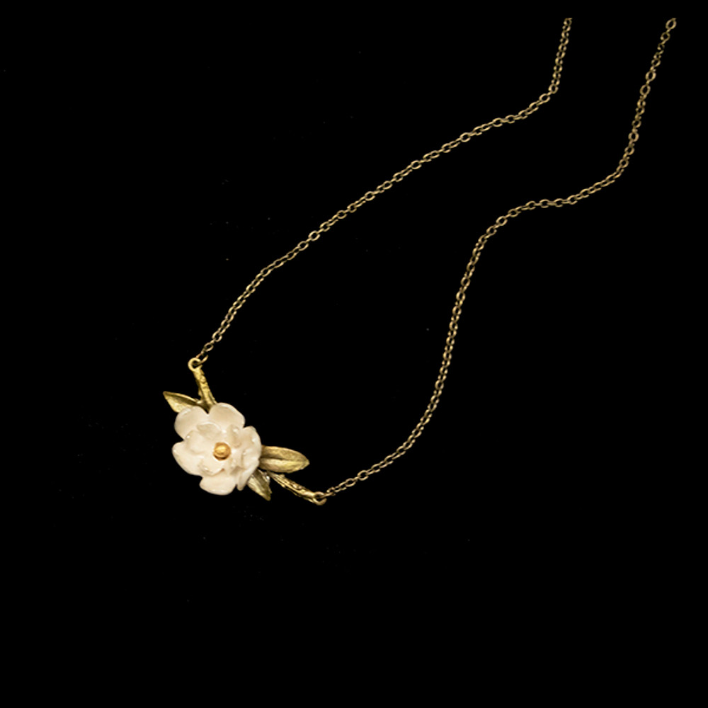 "Magnolia Branch 16"" Pendant Necklace 