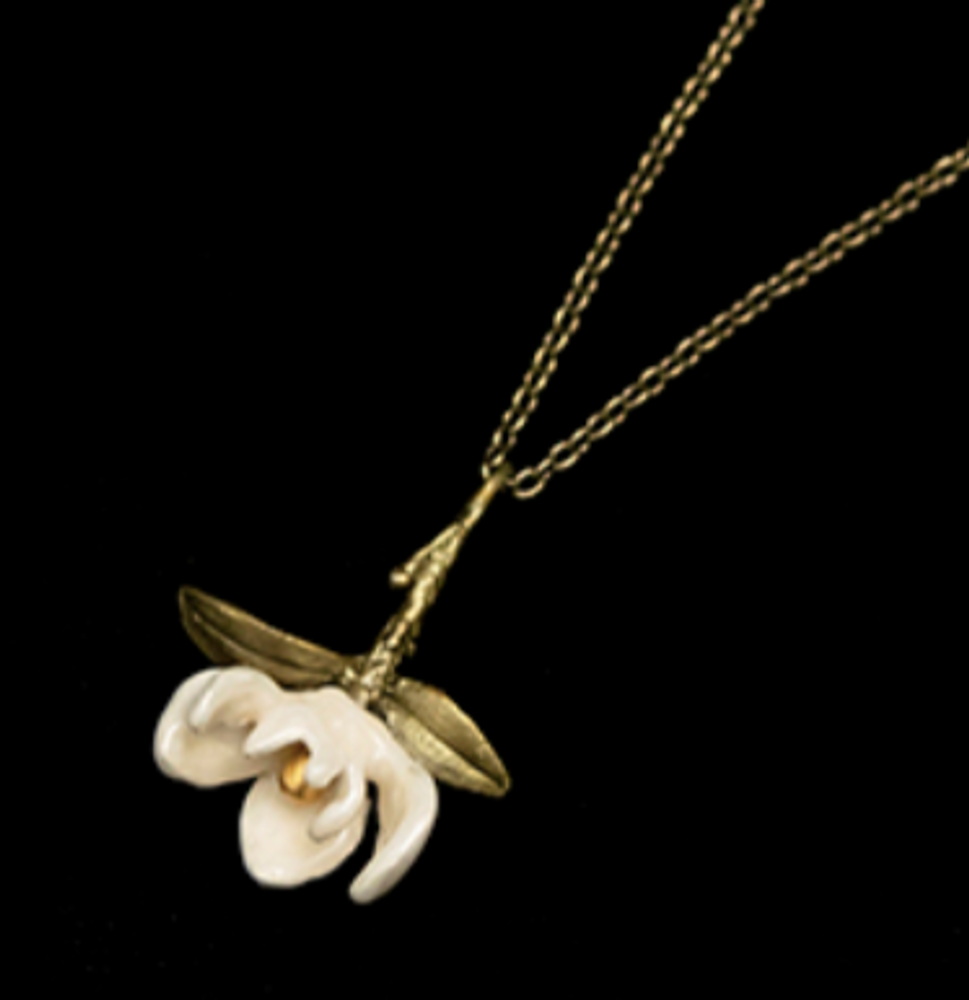 "Magnolia Blossom 20"" Drop Pendant Necklace 