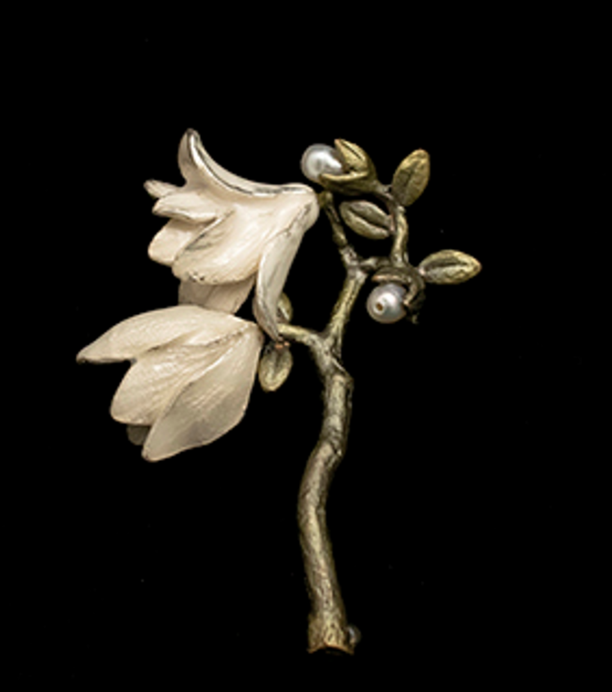 Magnolia Blossom Brooch | Nature Jewelry | Michael Michaud | 5989BZ