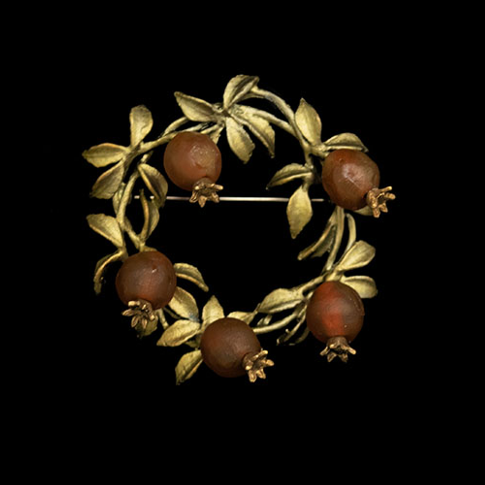 Pomegranate Wreath Brooch | Nature Jewelry | Michael Michaud | 5990BZ