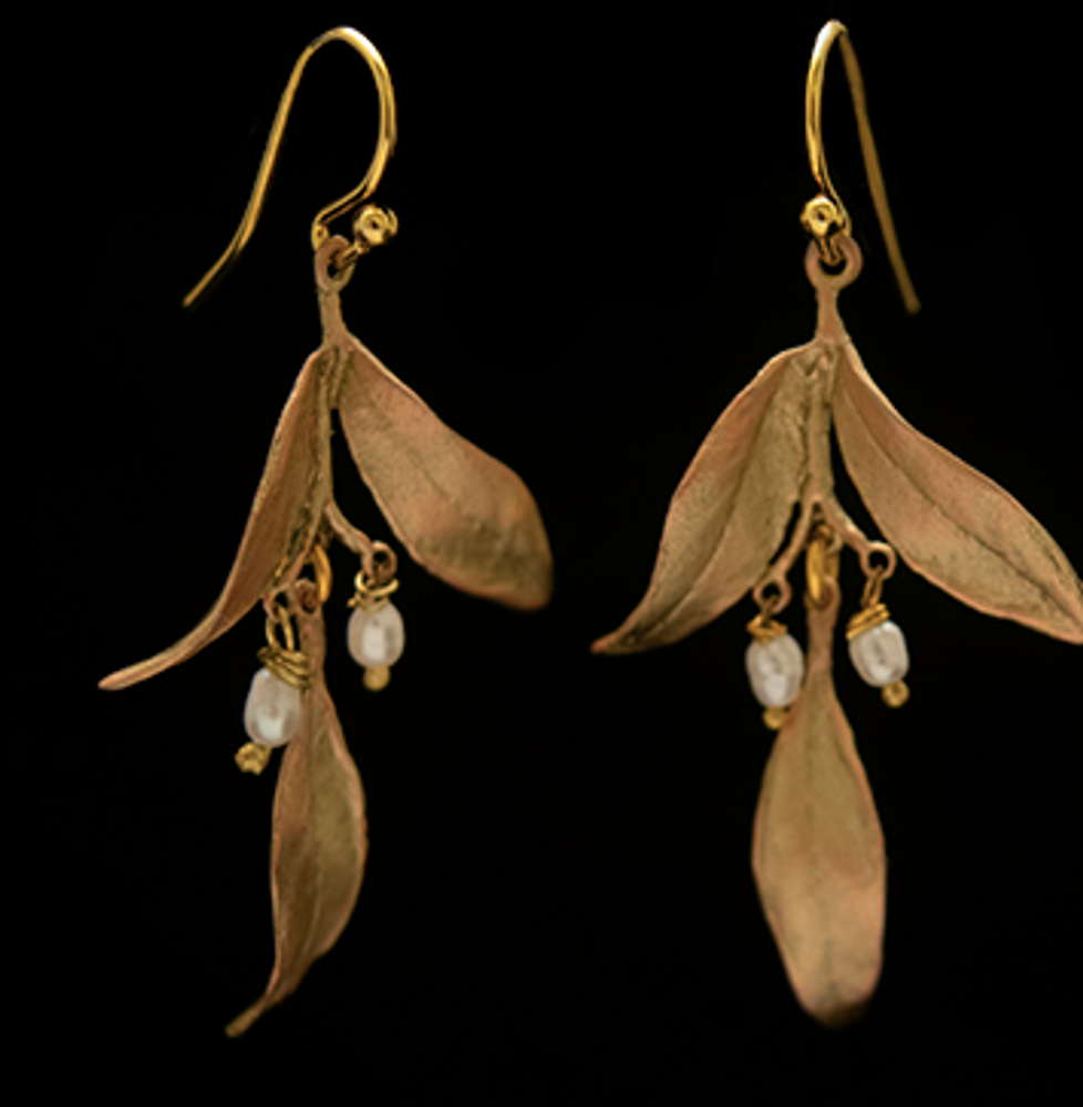 Leaf Tapestry Wire Earrings | Nature Jewelry | Michael Michaud | 3546BZ
