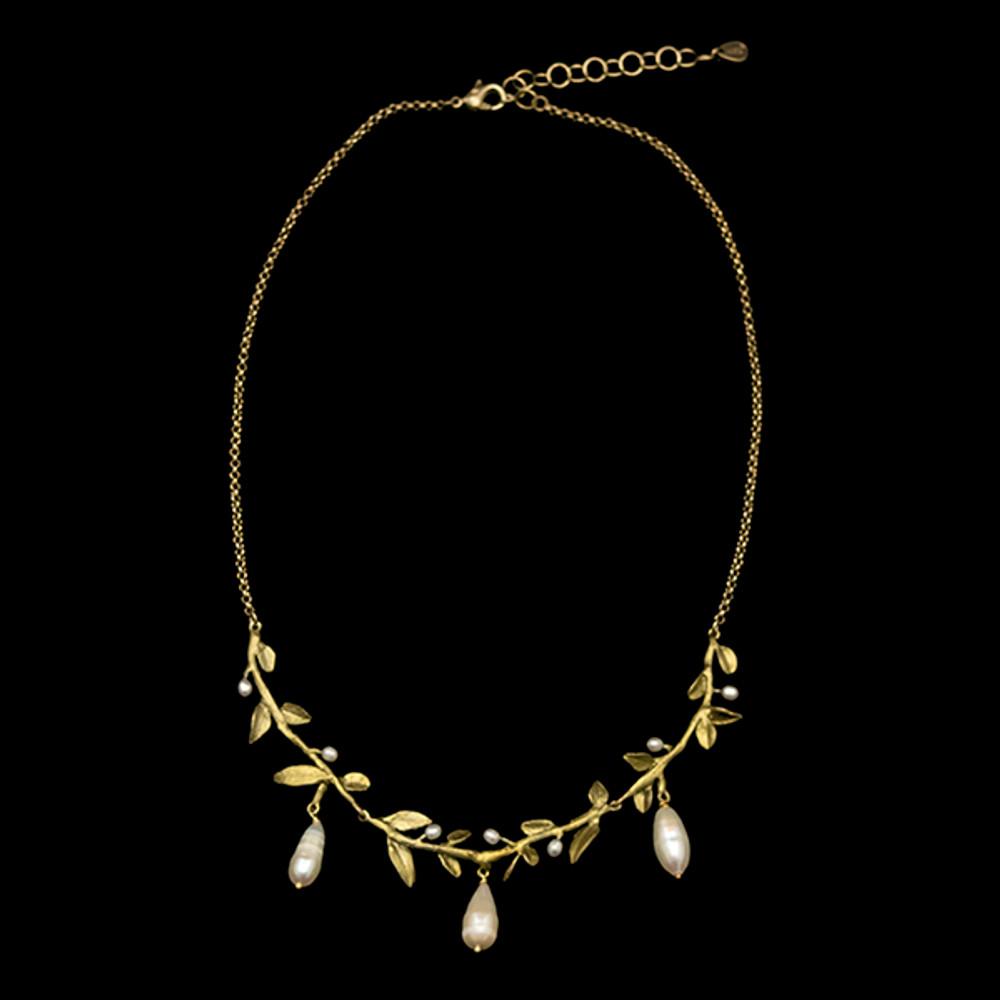 "Victorian Vine Leaf 16"" Necklace | Nature Jewelry | Michael Michaud | 9302BZ"