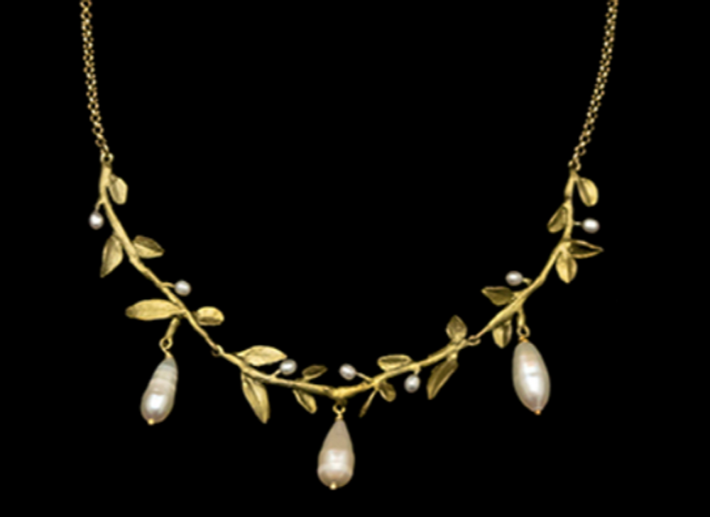 "Victorian Vine Leaf 16"" Necklace 