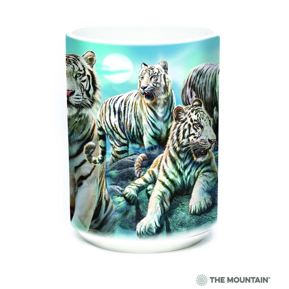 White Tiger 15oz Ceramic Mug | Night Tiger Collage | The Mountain | 57627309011