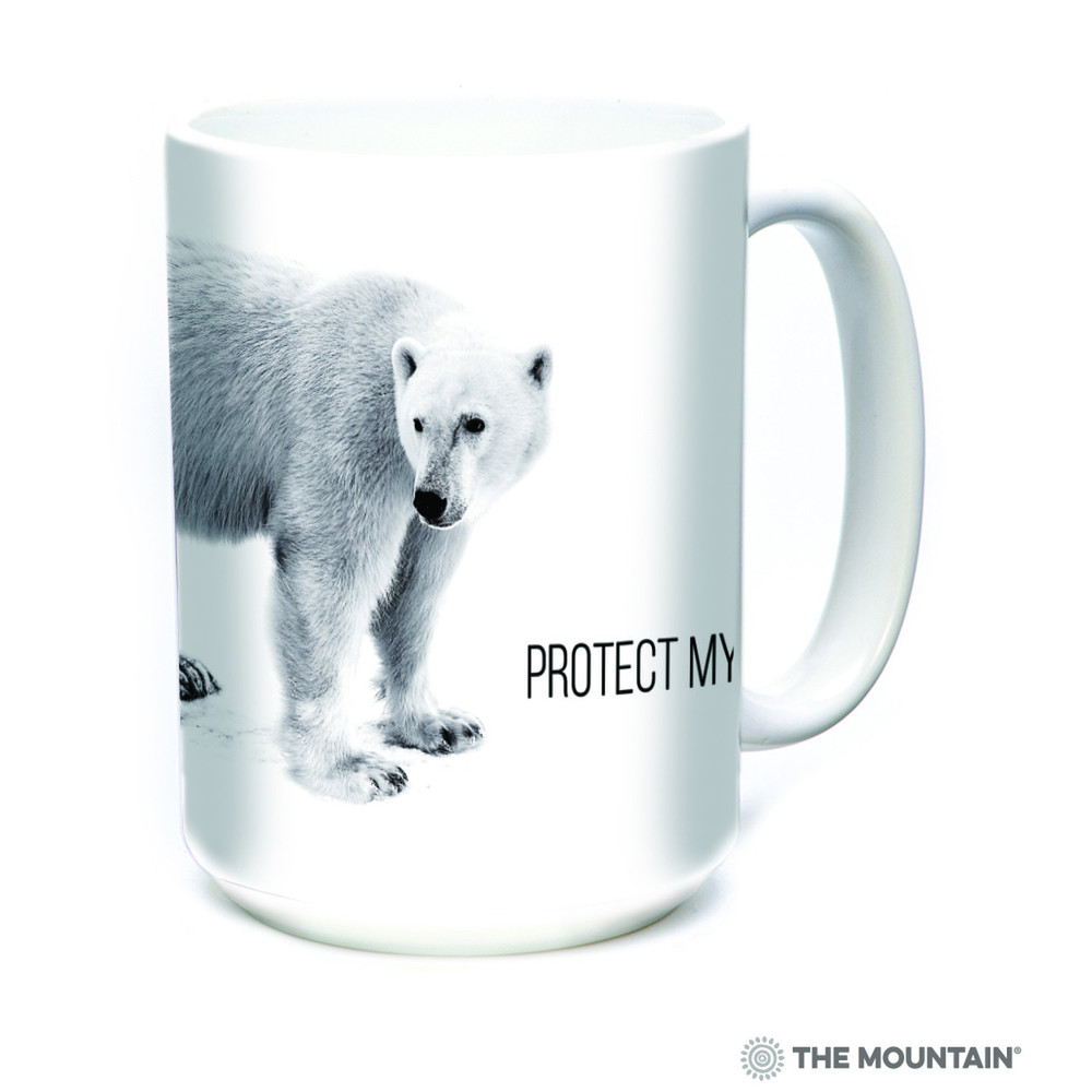 Polar Bear 15oz Ceramic Mug | Protect my Home | The Mountain | 57555409011 | Polar Bear Mug