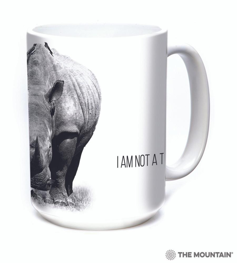 Rhino 15oz Ceramic Mug | I am not a Trophy | The Mountain | 57555209011 | Rhinoceros Mug