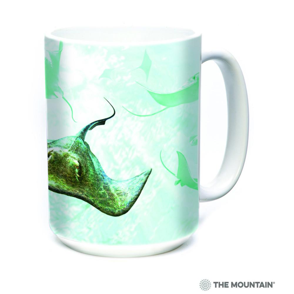 School of Stingrays 15oz Ceramic Mug | The Mountain | 57596909011 | Stingray Mug