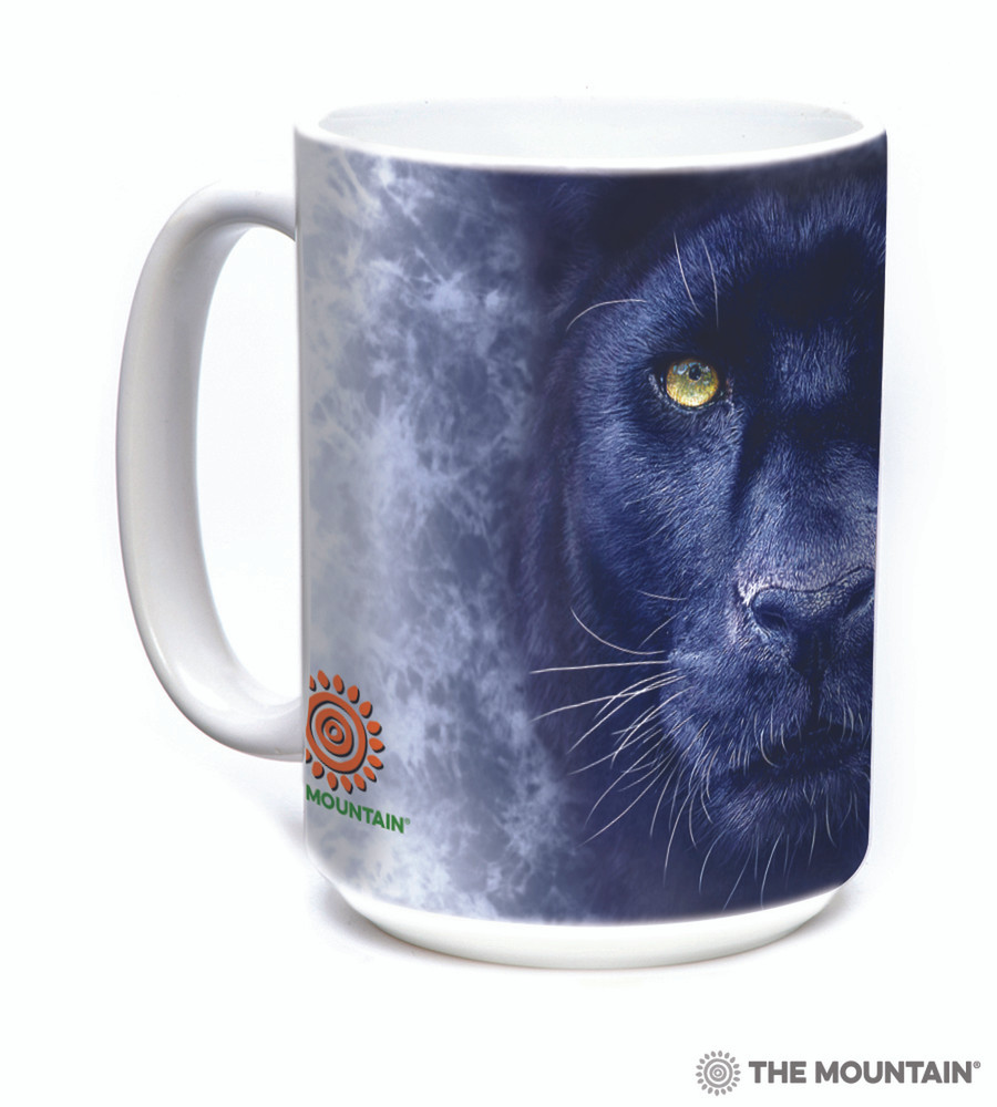 Black Panther Gaze 15oz Ceramic Mug | The Mountain | 57596309011 | Black Panther Mug