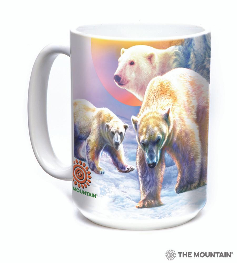 Sunrise Polar Bear Collage 15oz Ceramic Mug | The Mountain | 57589509011 | Polar Bear Mug