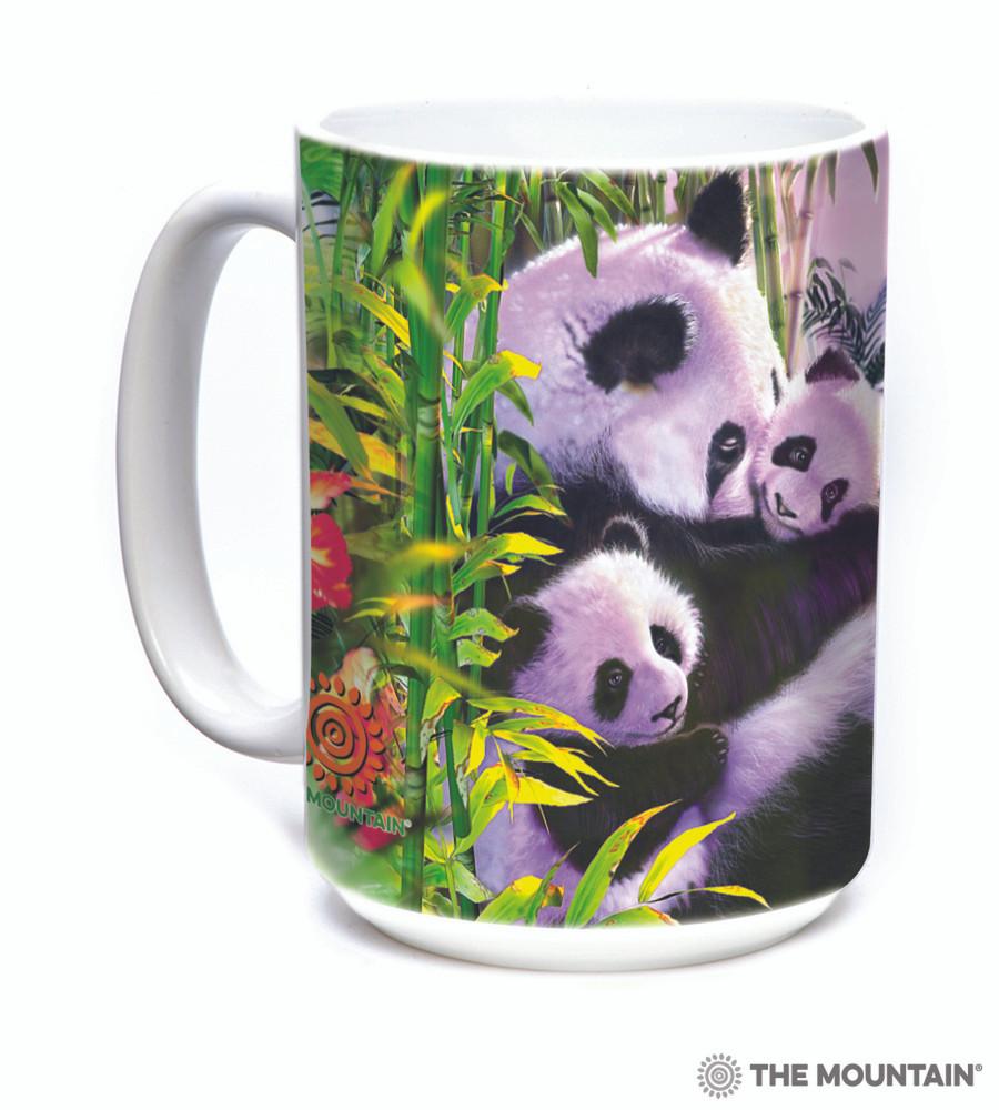 Panda Cuddles 15oz Ceramic Mug | The Mountain | 57588609011 | Panda Bear Mug