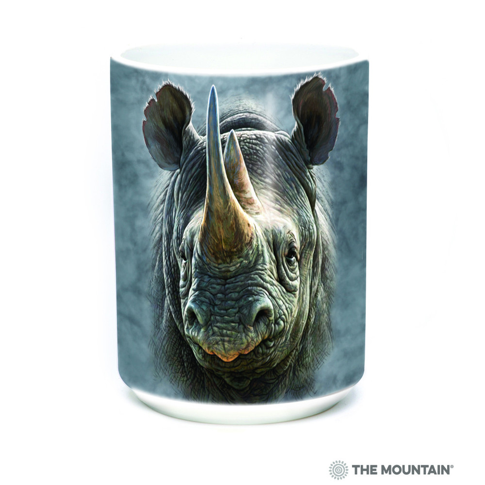 Black Rhino 15oz Ceramic Mug | The Mountain | 57350209011 | Rhinoceros Mug