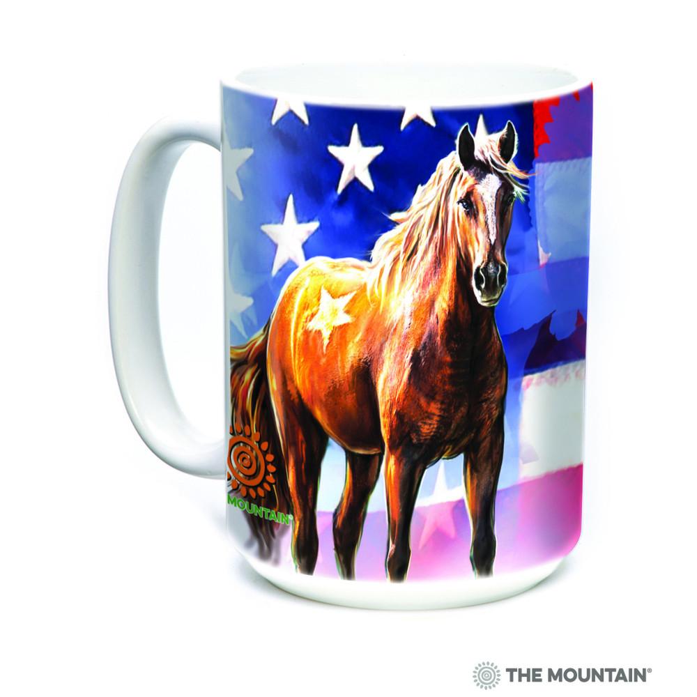 Horse Wild Star Flag 15oz Ceramic Mug | The Mountain | 57371409011 | Horse Mug