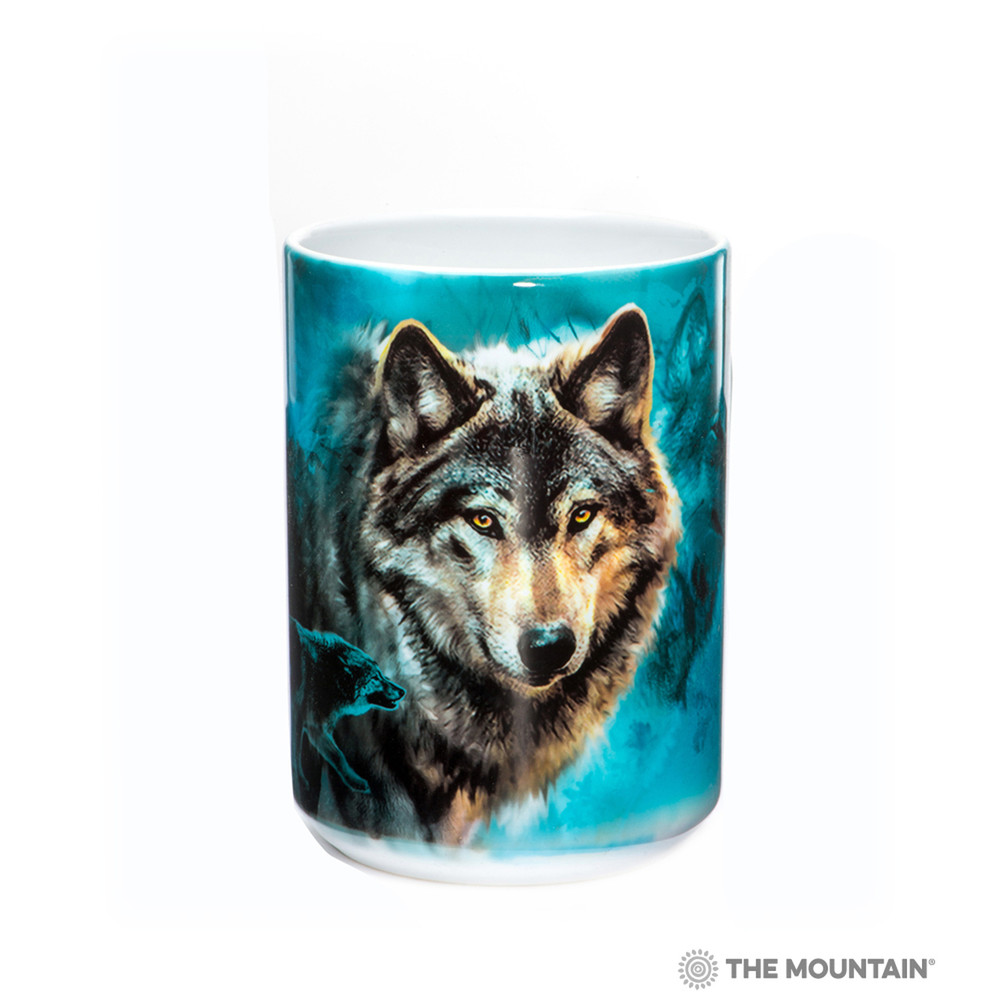 Night Wolves Collage 15oz Ceramic Mug   The Mountain   57330309011   Wolf Mug