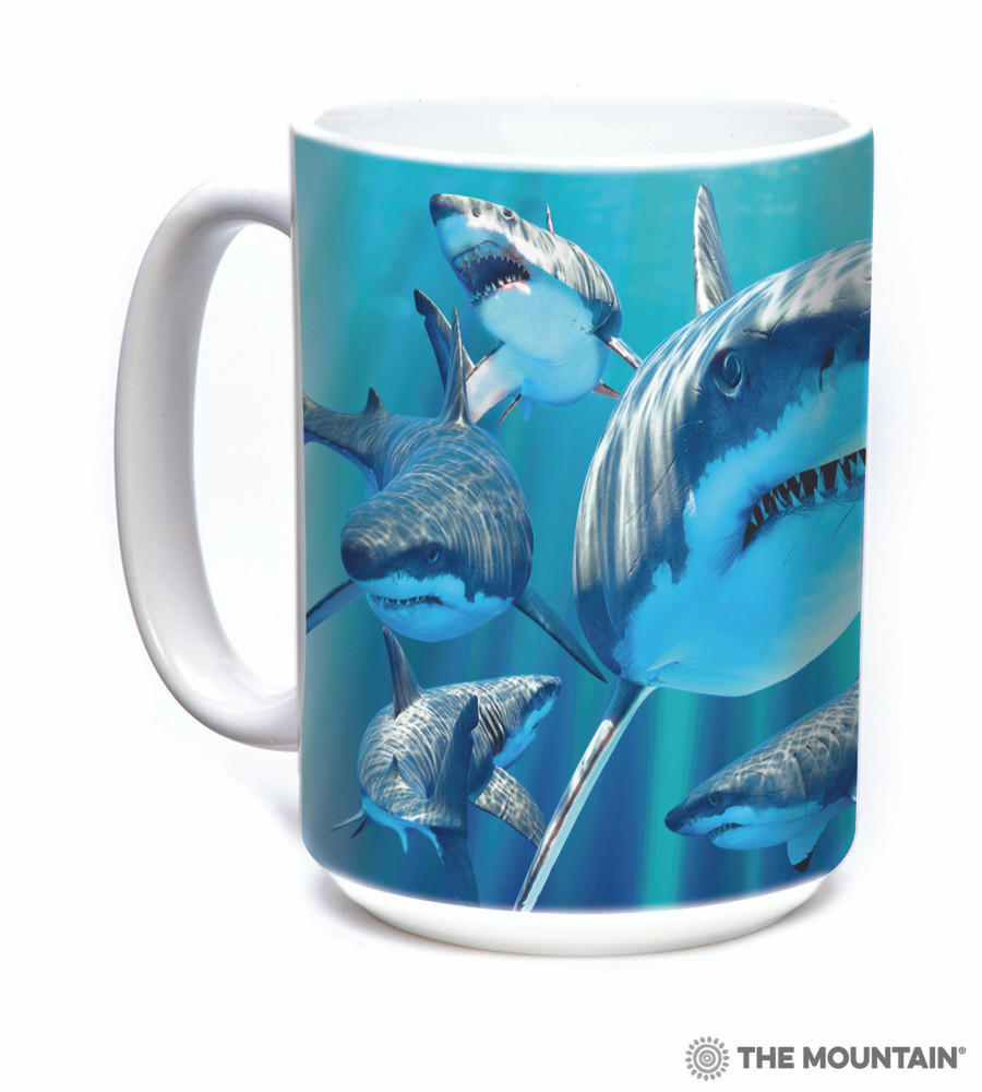 Great Whites Shark 15oz Ceramic Mug | The Mountain | 57594009011 | Shark Mug
