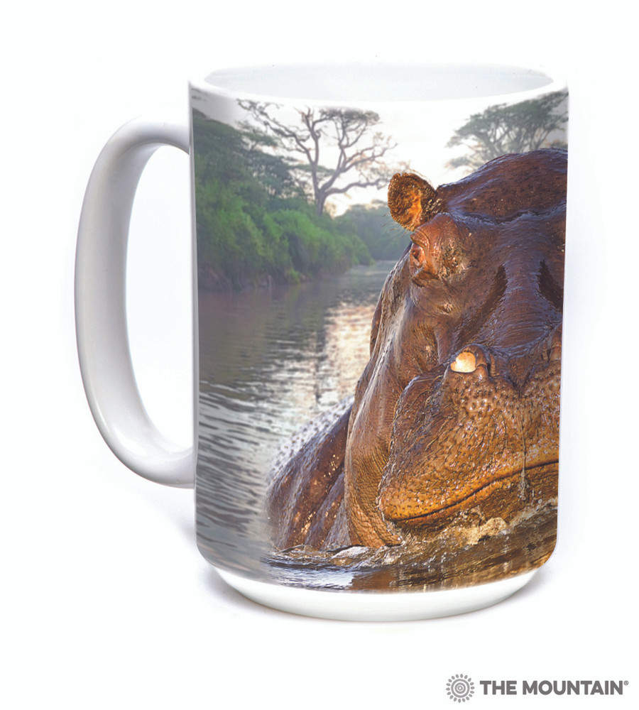Hippo 15oz Ceramic Mug | The Mountain | 57596009011 | Hippopotamus Mug