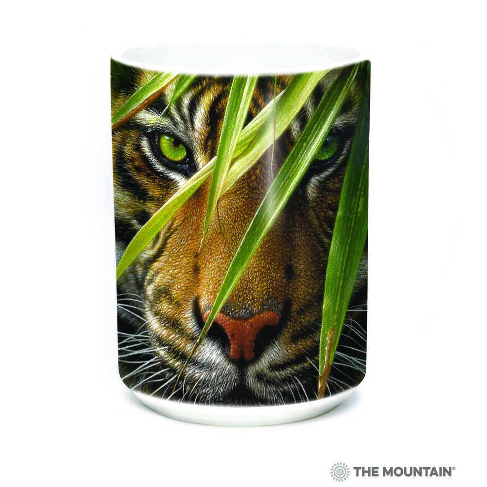 Emerald Forest Tiger 15oz Ceramic Mug | The Mountain | 57593409011 | Tiger Mug