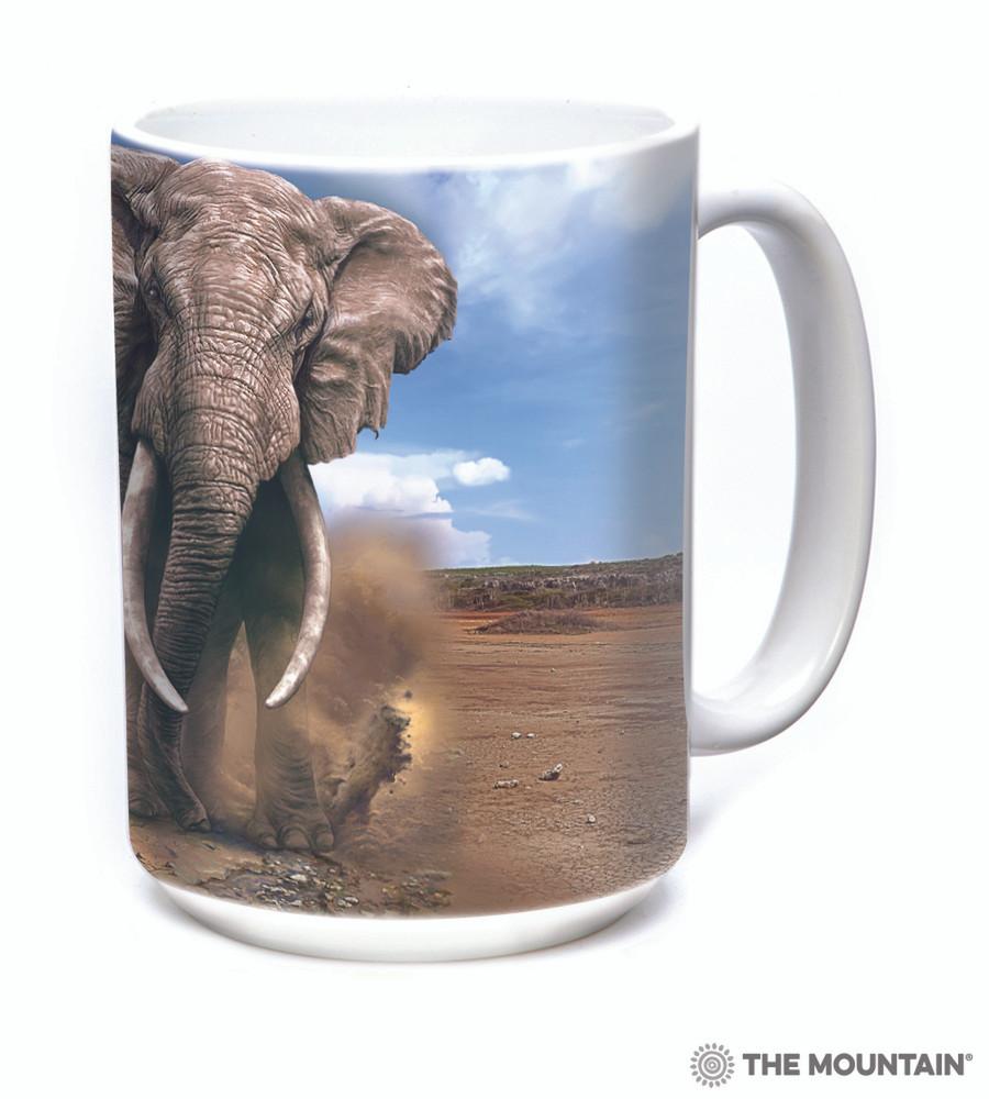 African Elephant 15oz Ceramic Mug | The Mountain | 57595909011 | Elephant Mug