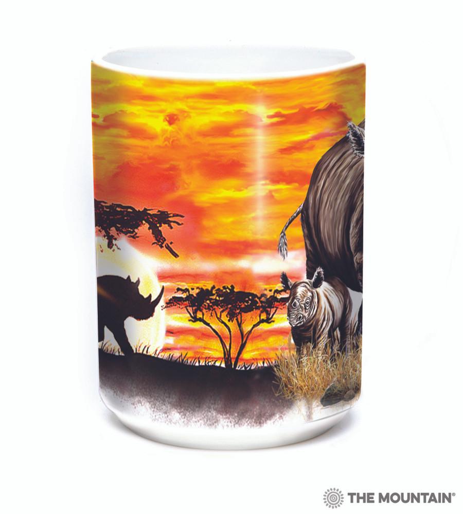 Rhinos 15oz Ceramic Mug | The Mountain | 57597009011 | Rhinoceros Mug