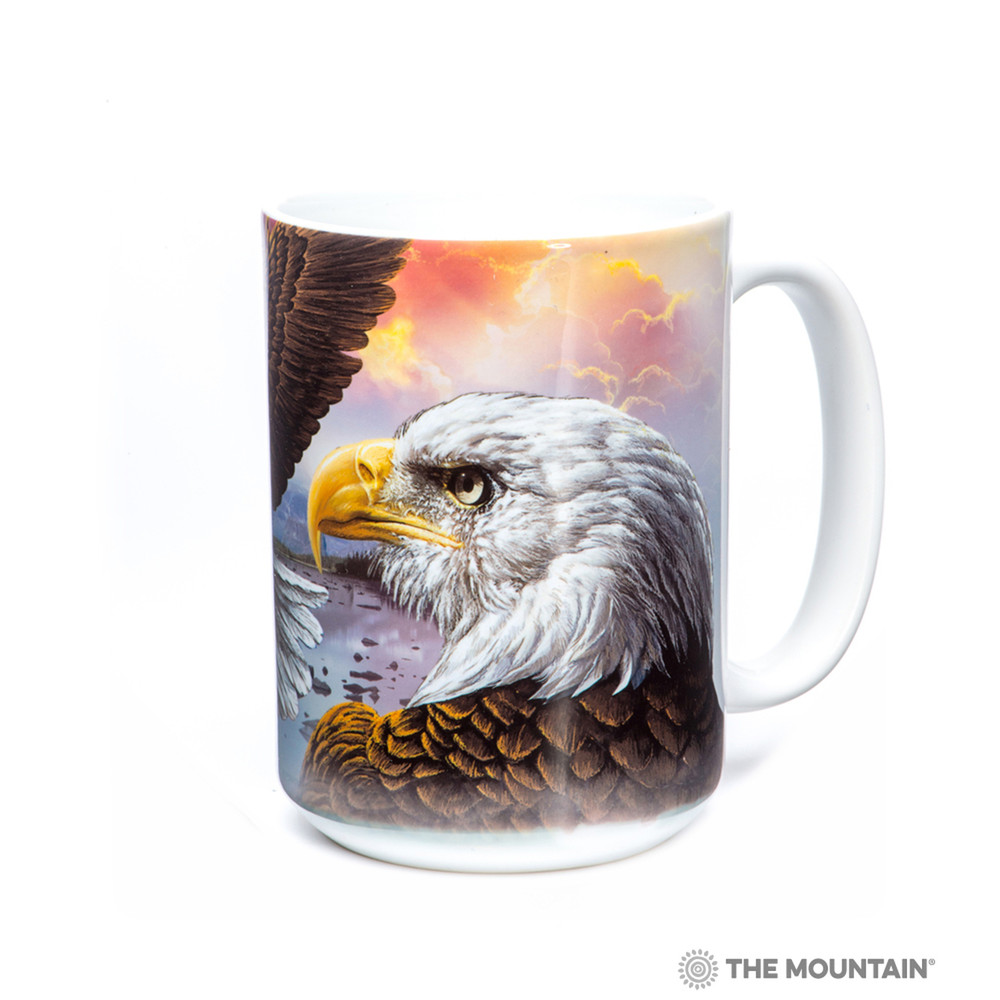 Eagle and Clouds 15oz Ceramic Mug | The Mountain | 57337009011 | Bald Eagle Mug