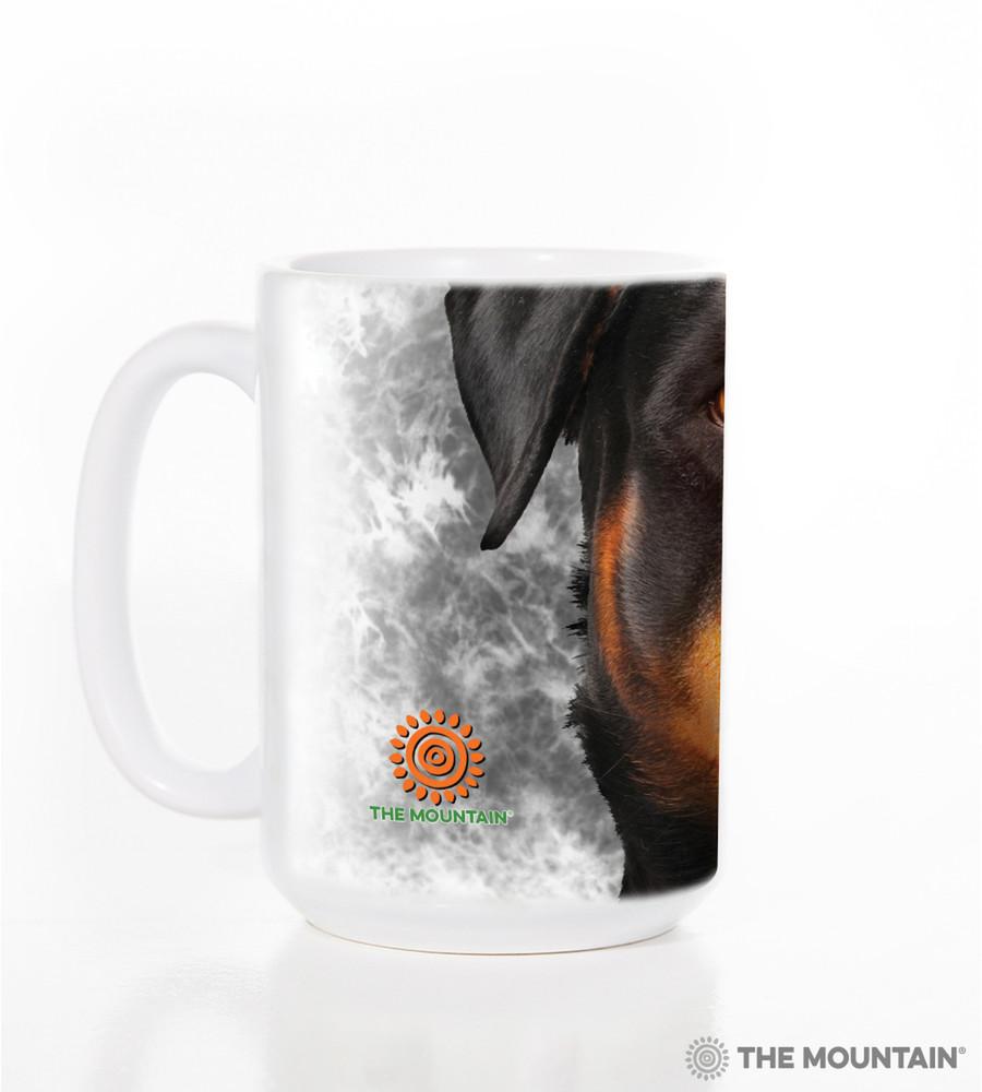 Rottweiler Dog Face 15oz Ceramic Mug | The Mountain | 57326309011 | Rottweiler Mug