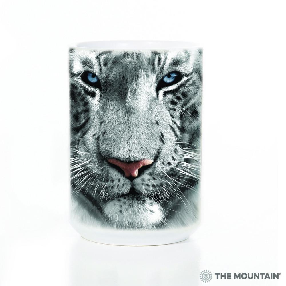 White Tiger Face 15oz Ceramic Mug | The Mountain | 57325209011 | White Tiger Mug
