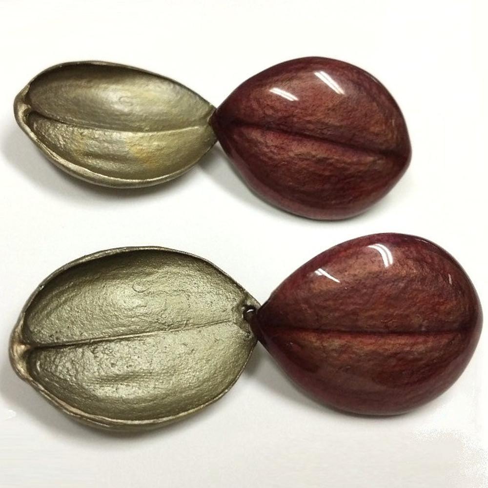 Rotundata Bonnet Orchid Double Earrings | Michael Michaud Jewelry | SS3012BZ