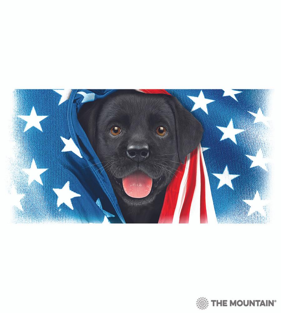 Patriotic Black Lab Puppy 15oz Ceramic Mug   The Mountain   57597209011   Black Lab Mug