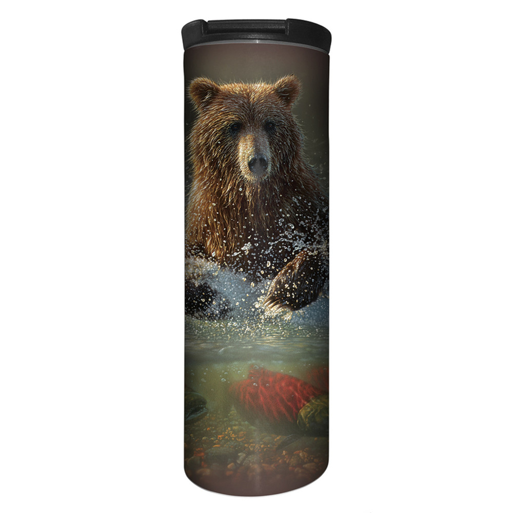 Lucky Fishing Hole Bear Stainless Steel 17oz Travel Mug | The Mountain | 5961651 | Bear Travel Mug