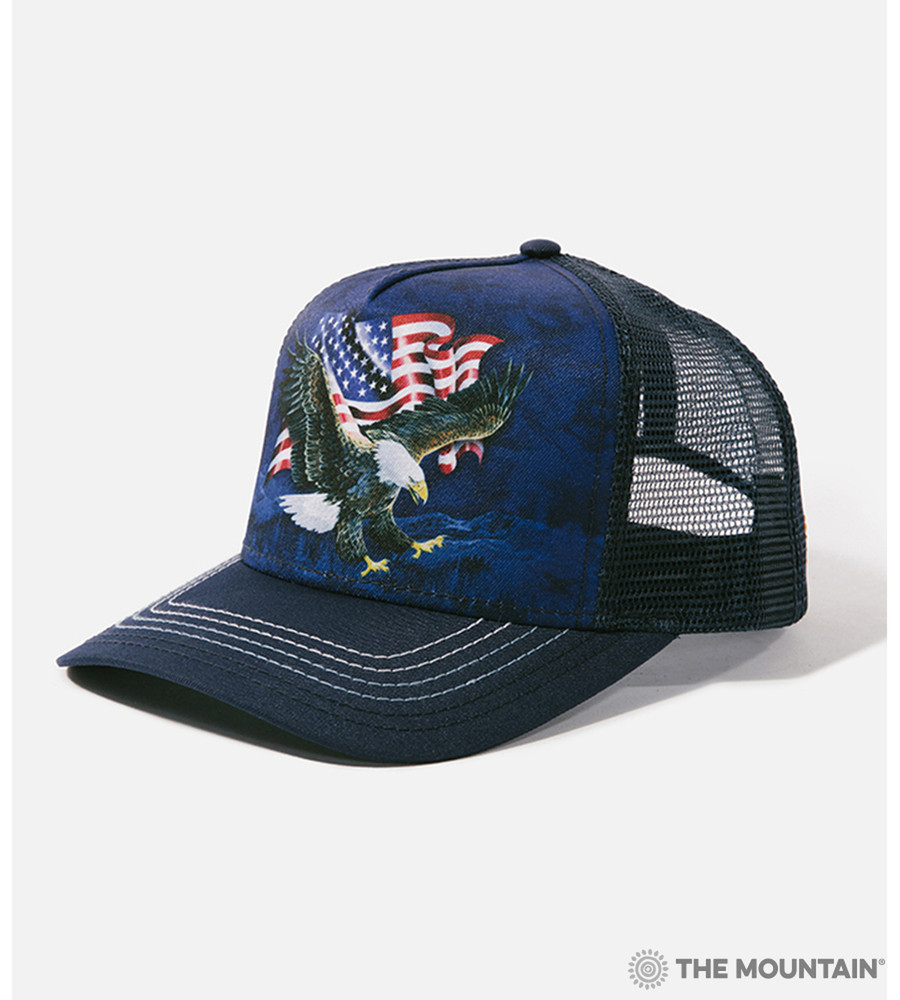 Eagle Talon Flag Trucker Hat | The Mountain | 9410019 | Eagle Hat