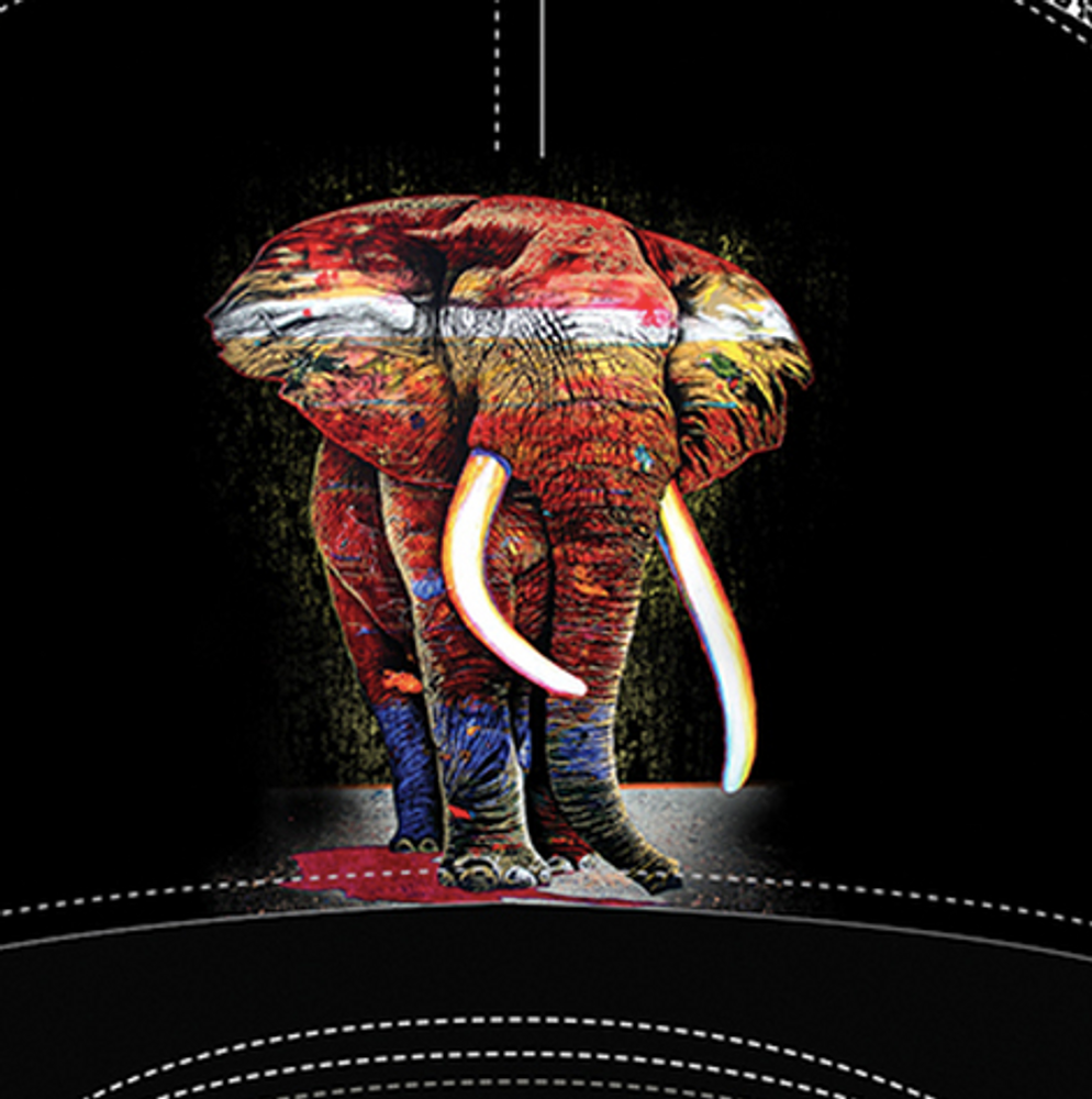 Painted Elephant Trucker Hat | The Mountain | 76632201009 | Elephant Hat