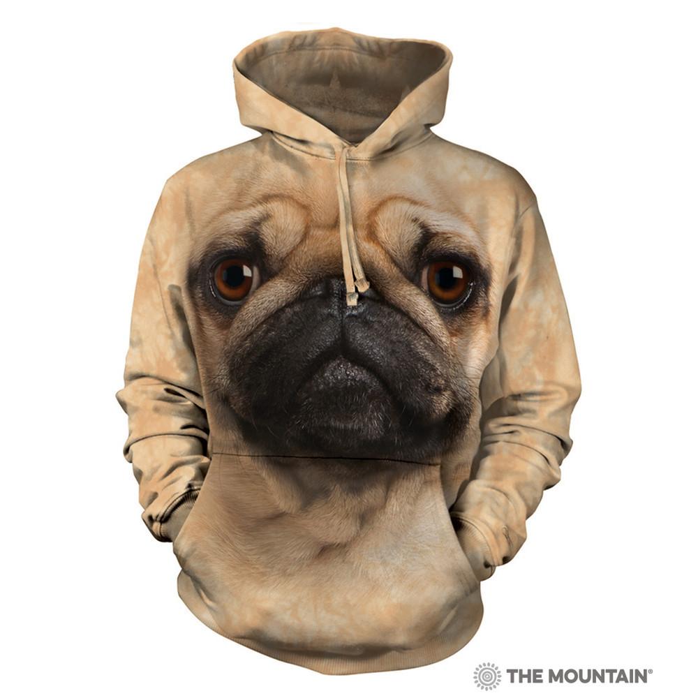 Pug Dog Face Unisex Hoodie | The Mountain | 723369 | Pug Sweatshirt
