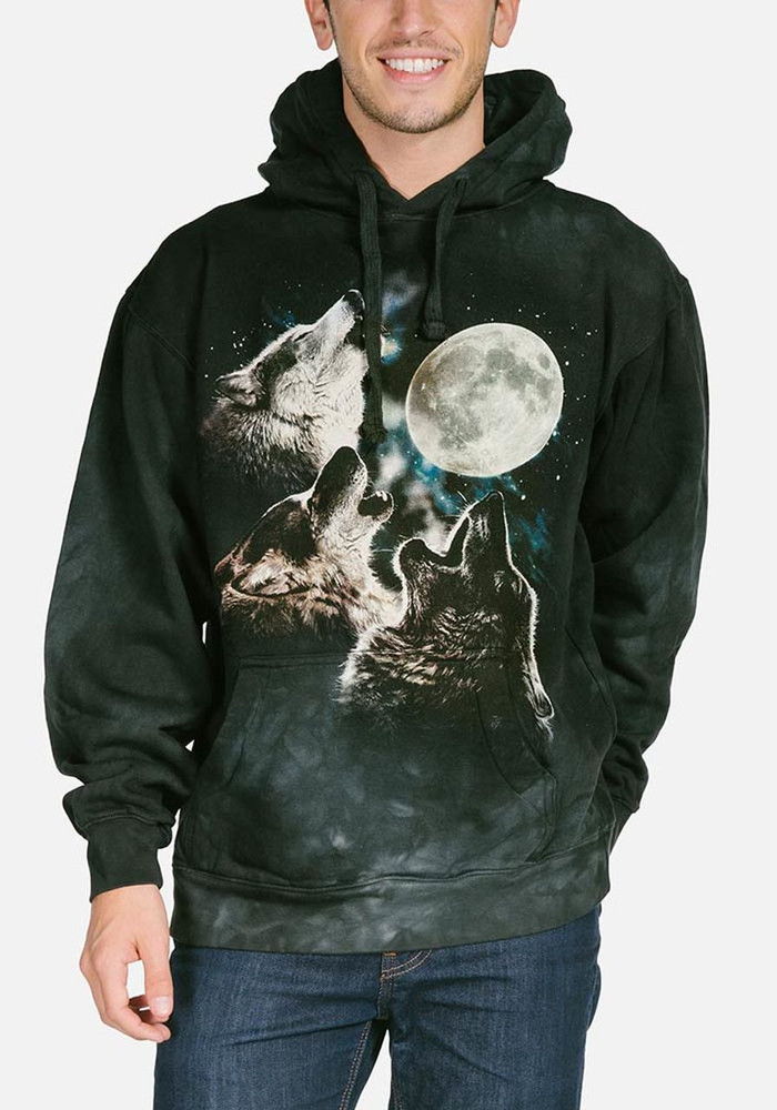 Three Wolf Moon Unisex Hoodie   The Mountain   722053   Wolf Sweatshirt