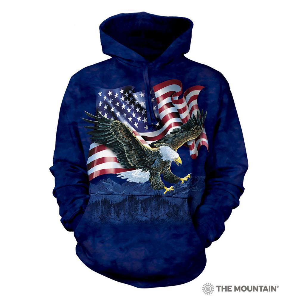 Eagle Talon Flag Unisex Hoodie   The Mountain   721001   Bald Eagle Sweatshirt