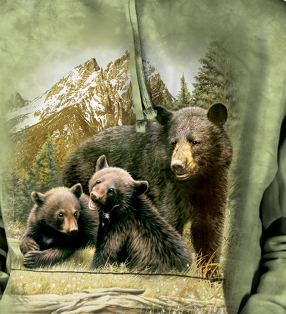 Black Bear Family Unisex Hoodie | The Mountain | 725980 | Black Bear Sweatshirt