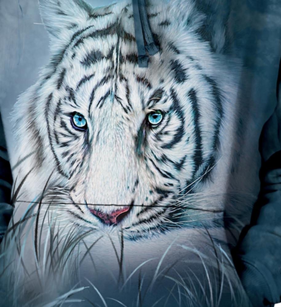 Thoughtful White Tiger Unisex Hoodie | The Mountain | 725964 | White Tiger Sweatshirt
