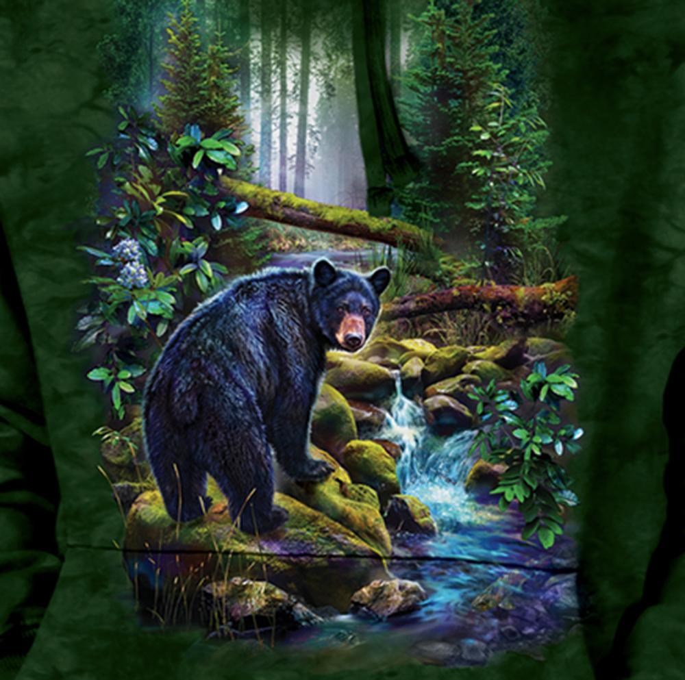 Black Bear Forest Unisex Hoodie | The Mountain | 726164 | Black Bear Sweatshirt