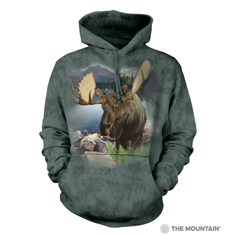 Moose Monarch of the Forest Unisex Hoodie | The Mountain | 726168 | Moose Sweatshirt