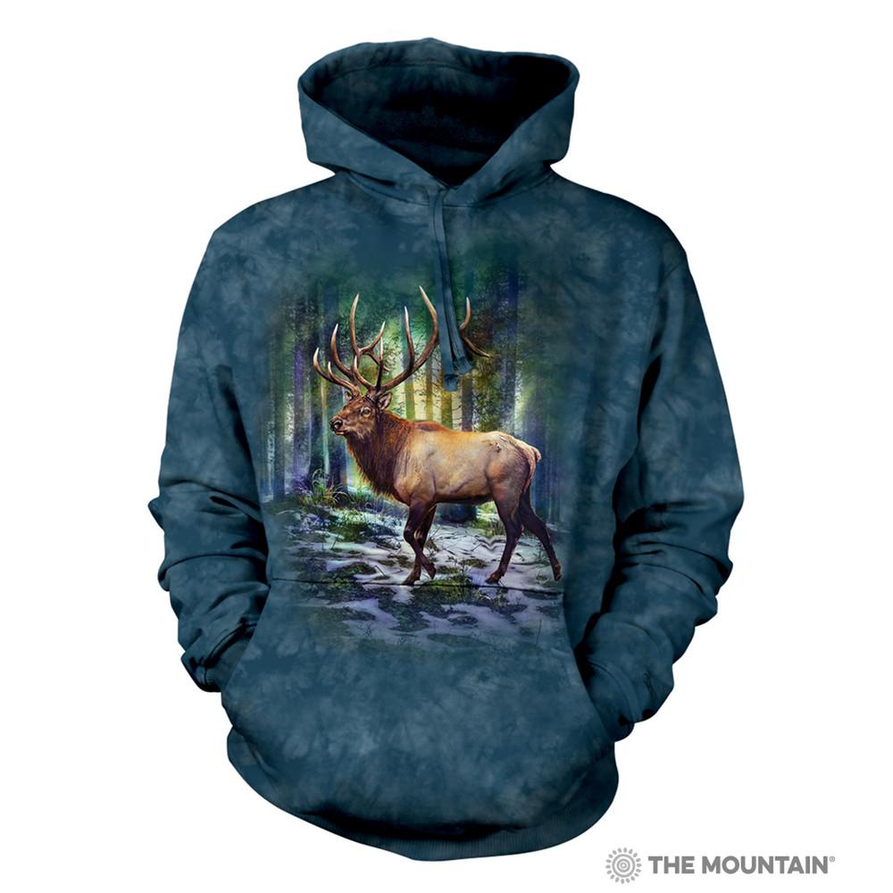 Sunlit Elk Unisex Hoodie | The Mountain | 726185 | Elk Sweatshirt