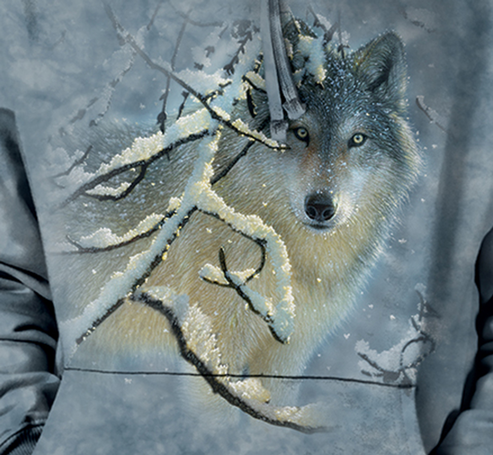 Broken Silence Wolf Unisex Hoodie | The Mountain | 726390 | Wolf Sweatshirt