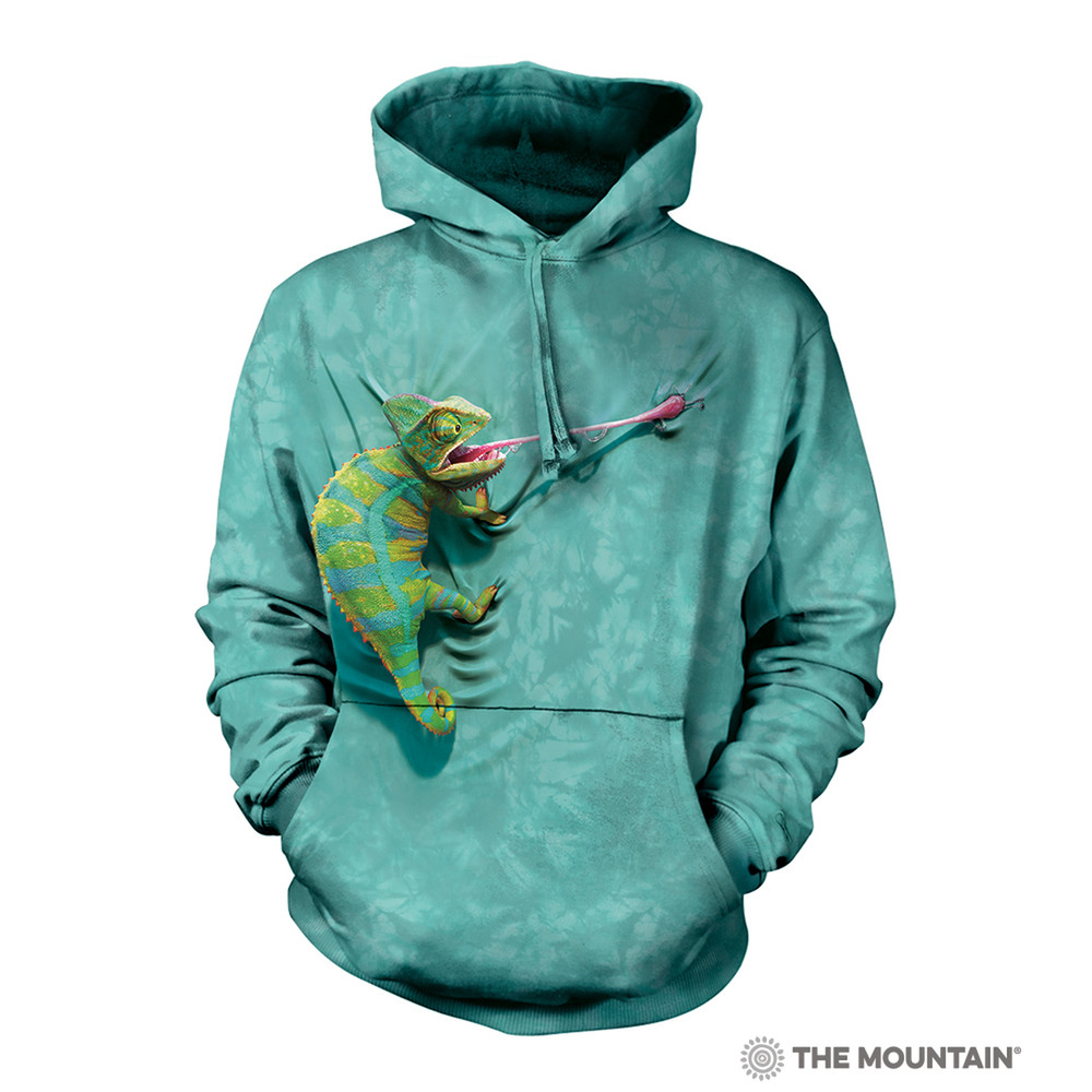 Climbing Chameleon Unisex Hoodie   The Mountain   724052   Chameleon Sweatshirt