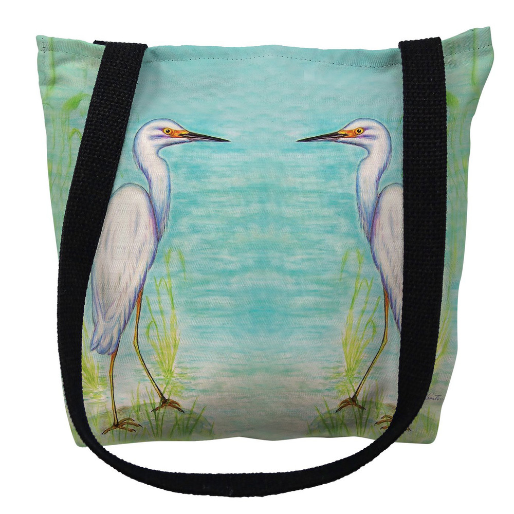 Snowy Egret Tote Bag | Betsy Drake | TY025M
