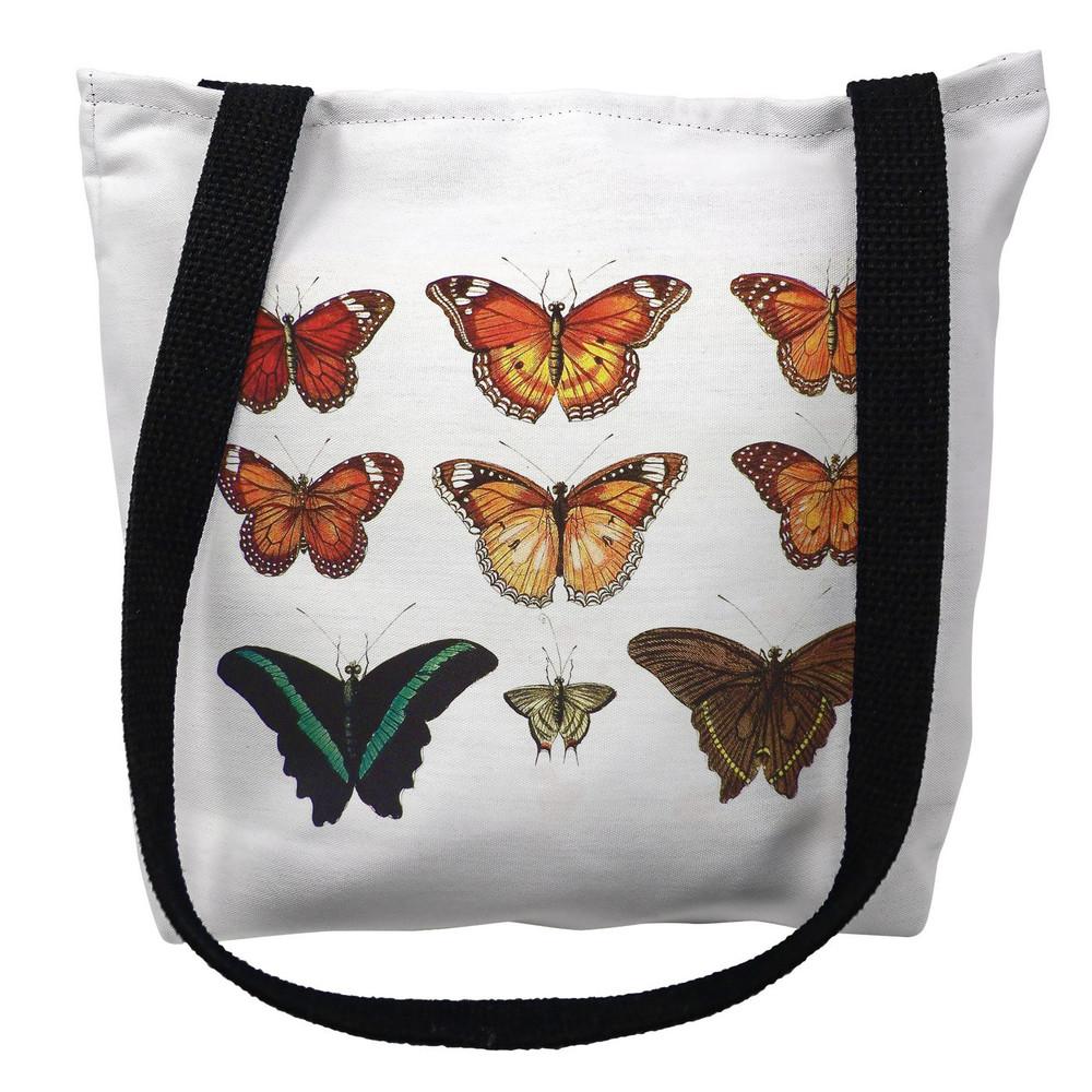 Orange Butterflies Tote Bag | Betsy Drake | TY026APM