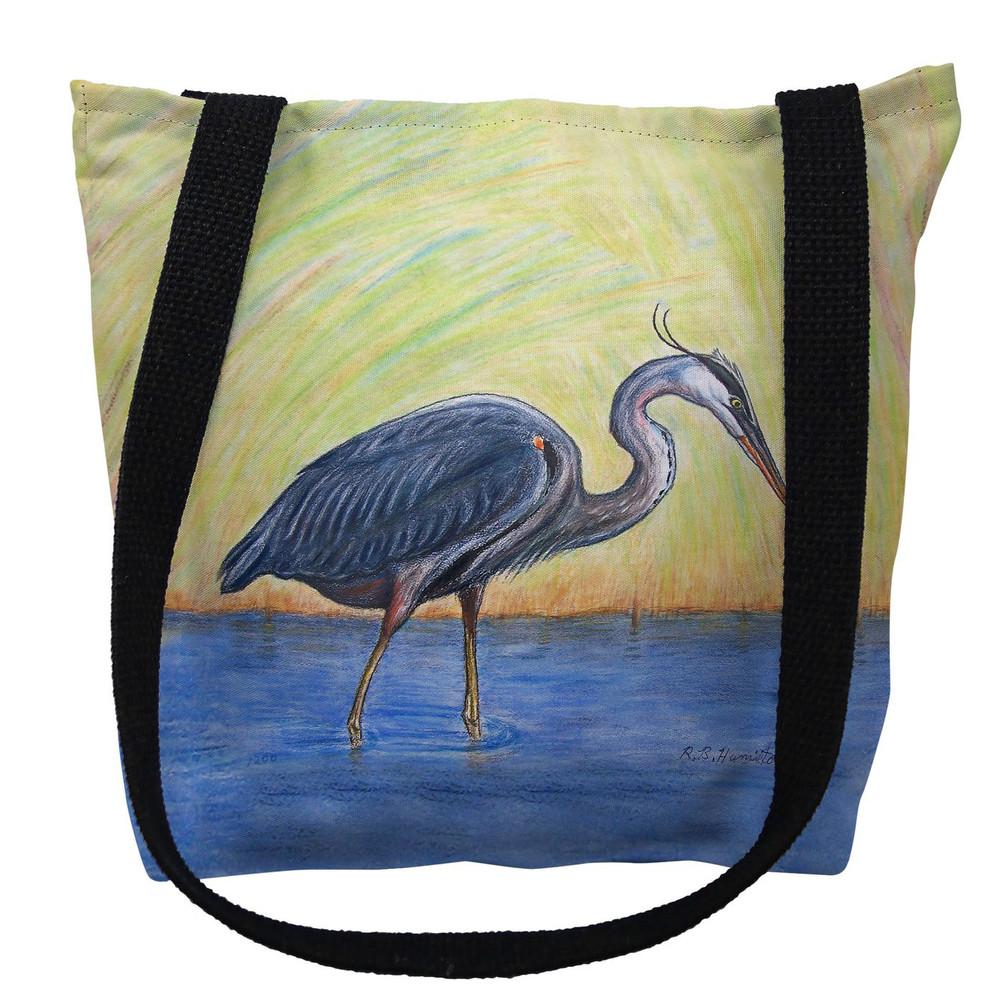 Blue Heron Tote Bag   Betsy Drake   TY027M