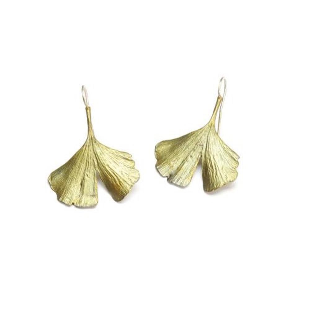 Gingko Wire Earrings | Michael Michaud Jewelry | SS4075bz