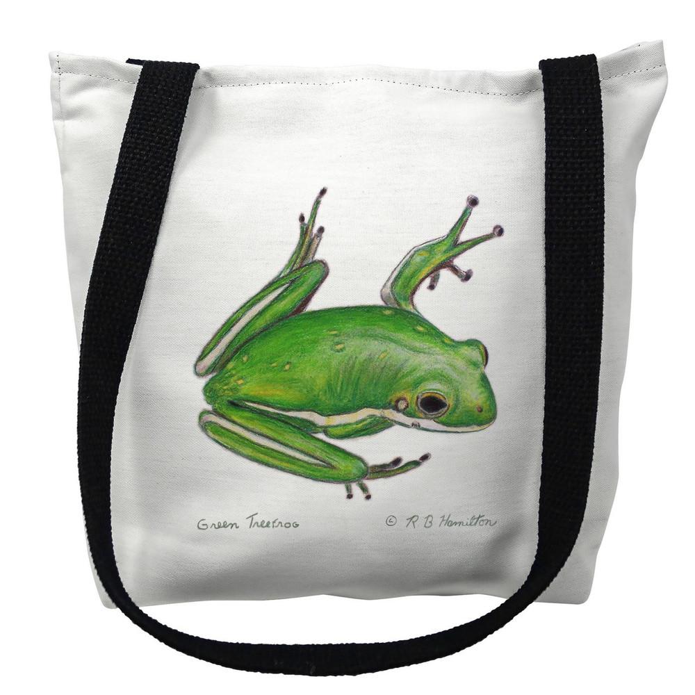 Green Tree Frog Tote Bag | Betsy Drake | TY040M