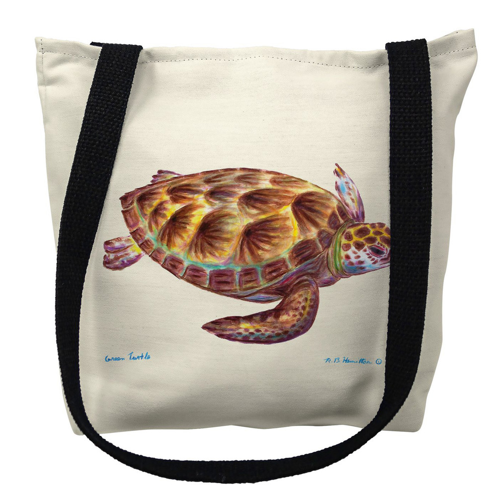 Green Sea Turtle Tote Bag | Betsy Drake | TY044M