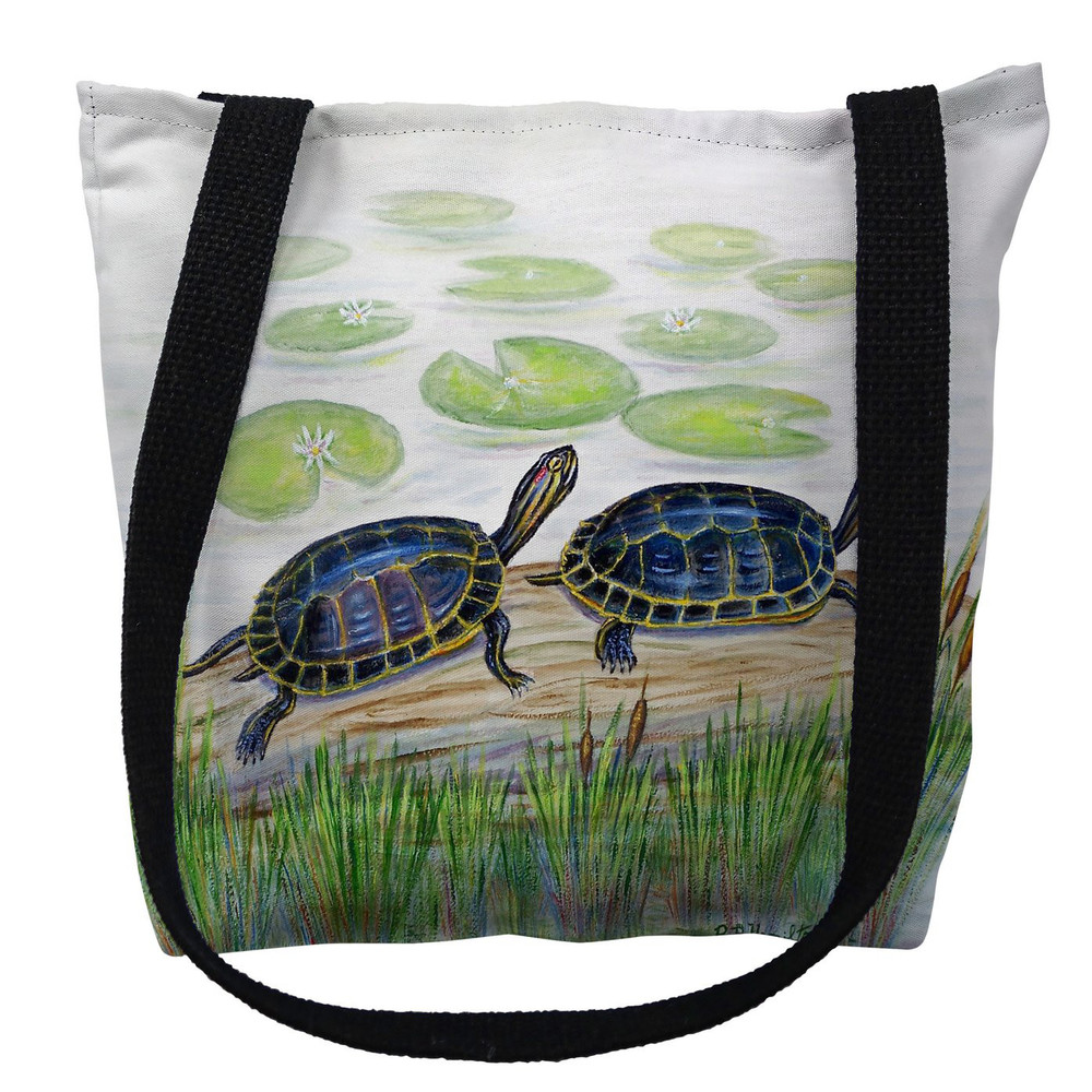 Two Turtles Tote Bag   Betsy Drake   TY045M